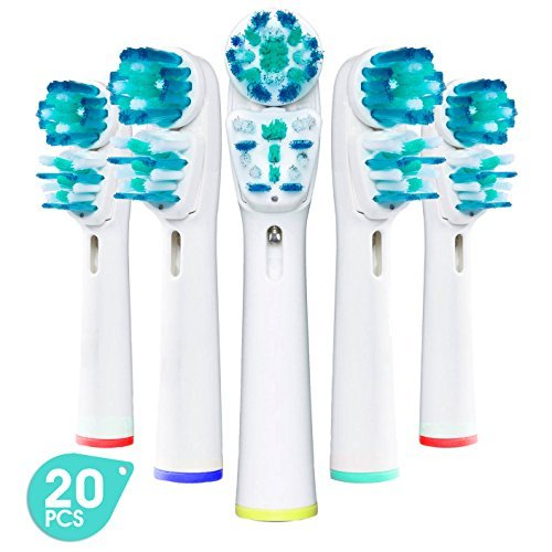 Premium Generic Replacement Brush Heads for Oral-B Braun Dual Clean (20 Pack) | Fits: Dual Clean Electric Toothbrushes, 3D Excel, Advance Power, Professional Care, Smart Series, Pro Health, Triumph