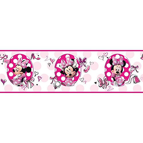 York Wallcoverings Walt Disney Kids II Fashionista Minnie ...