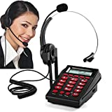 call center dialpad headset Telephone, MCHEETA Noise Cancellation Corded Phone with Headset for Office/Home