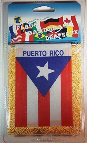 Puerto Rico Flag Rear View Mirror Mini Banner 4