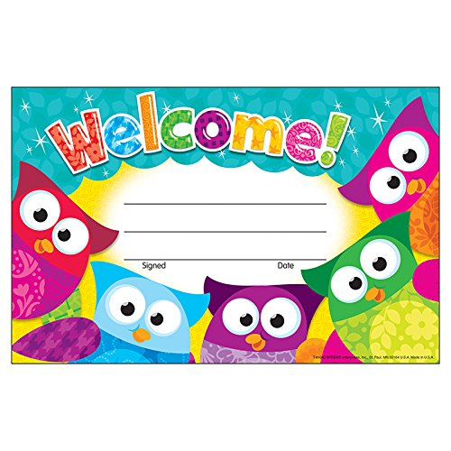 TREND enterprises, Inc. Welcome! Owl-Stars! Recognition Awards, 30 ct