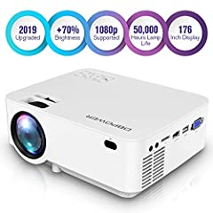 DBPOWER innovative LED portable projector is ideal for home theater.
