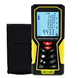 Distance Meter Tester with Backlight and Spirit Level, Area Volume Measurement Tool, ±1mm accuracy 70m(229ft)