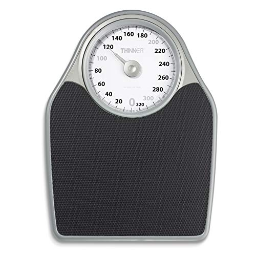 Thinner Extra-Large Dial Analog Precision Bathroom Scale, Analog Bath Scale ()