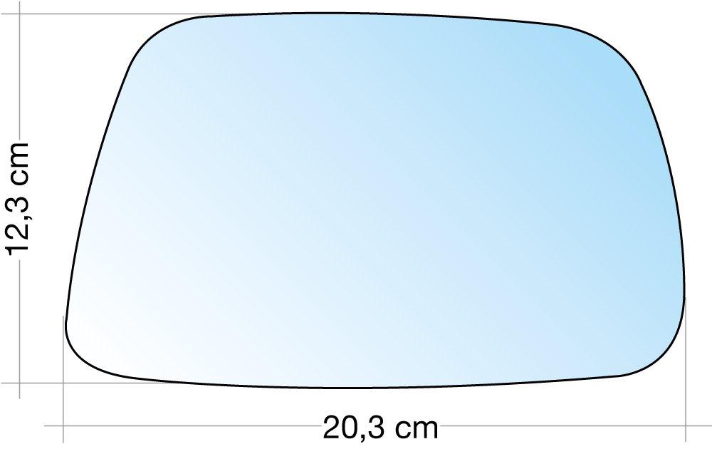 Cora 3310804 Specchio con Piastra, DX, Cromato Cora S.p.A