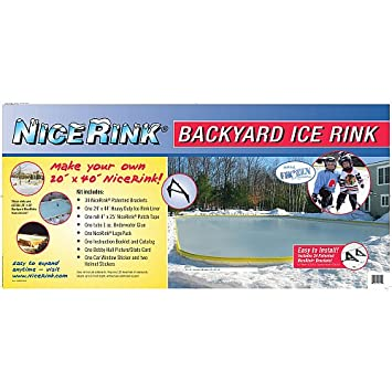 Nicerink 20u0027 X 40u0027 Backyard Ice Rink Kit