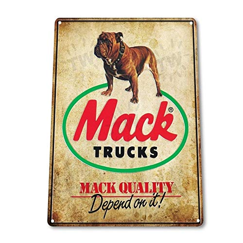 - Mack Trucks Auto Garage Vintage Retro Tin Sign Metal Sign TIN Sign 7.8X11.8 INCH