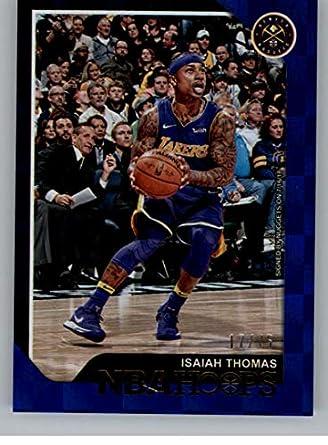 1c38e5a8bed1 2018-19 NBA Hoops Blue Checkerboard  195 Isaiah Thomas SER 75 Denver Nuggets