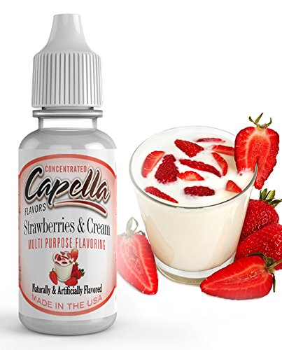 Capella Flavor Drops Strawberries and Cream Concentrate 13 Milliliter Bottle