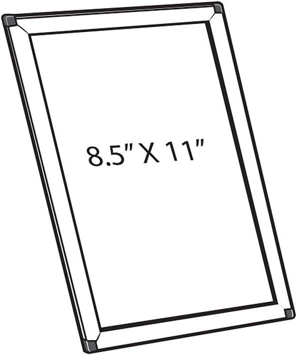 """Azar Vertical//Horizontal Opti Snap Counter /& Wall Frame 5/"""" x 7/"""" 300205-SLV"""