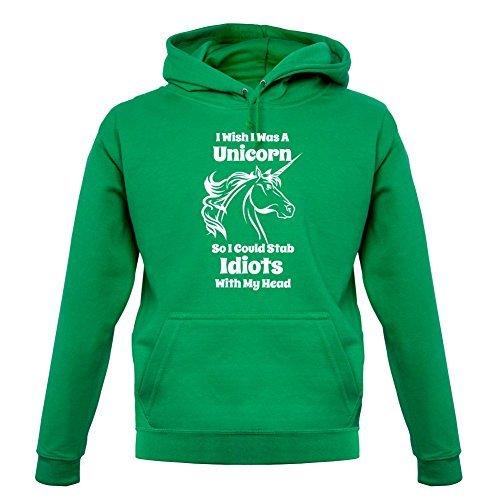 I Wish I WAS A Unicorn - Sudadera Capucha Unisex/Sudadera Con Capucha - 12 COLORES - Verde Kelly, Medium: Amazon.es: Ropa y accesorios