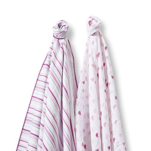 SwaddleDesigns SwaddleDuo Swaddling Blankets Chickies