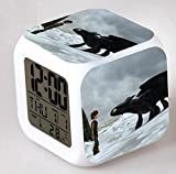 ENJOY LIFE : Cute Digital Multifunctional Alarm Clock With Glowing Led Lights and How To Train Your Dragon sticker, Good Gift For Your Kids , Comes With Bonuses Part 2 (14)
