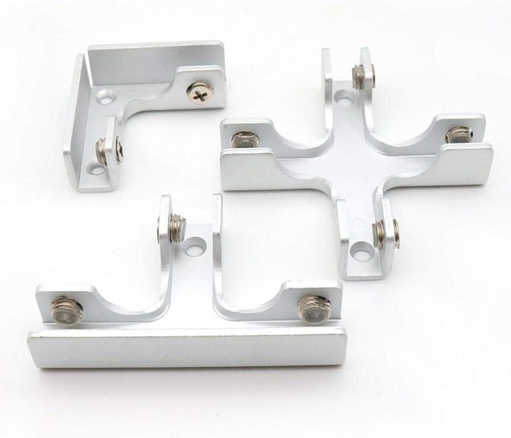 tipo Cross///6-10mm LT tipo cruz en /ángulo recto clip de combinaci/ón fija gabinete tanque pieza de conexi/ón Pescados de cristal fijo para 6-12mm muebles