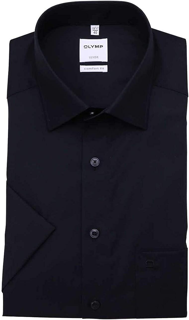 Olymp Luxor Comfort fit Chemise /à col Montant Noir