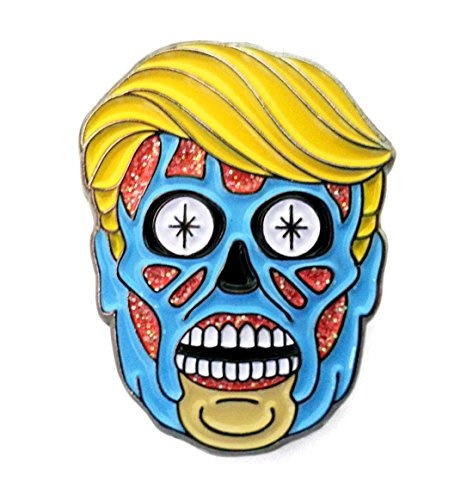 President Trump Alien Enamel Lapel Pin ()