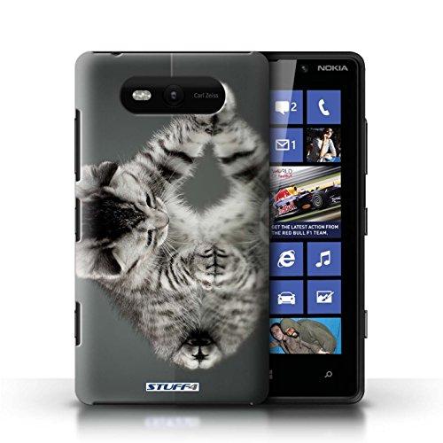 Etui / Coque pour Nokia Lumia 820 / Miroir conception / Collection de Chatons mignons
