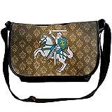 Lov6eoorheeb Unisex Coat Of Arms Of Lithuania Wide Diagonal Shoulder Bag Adjustable Shoulder Tote Bag Single Shoulder Backpack For Work,School,Daily
