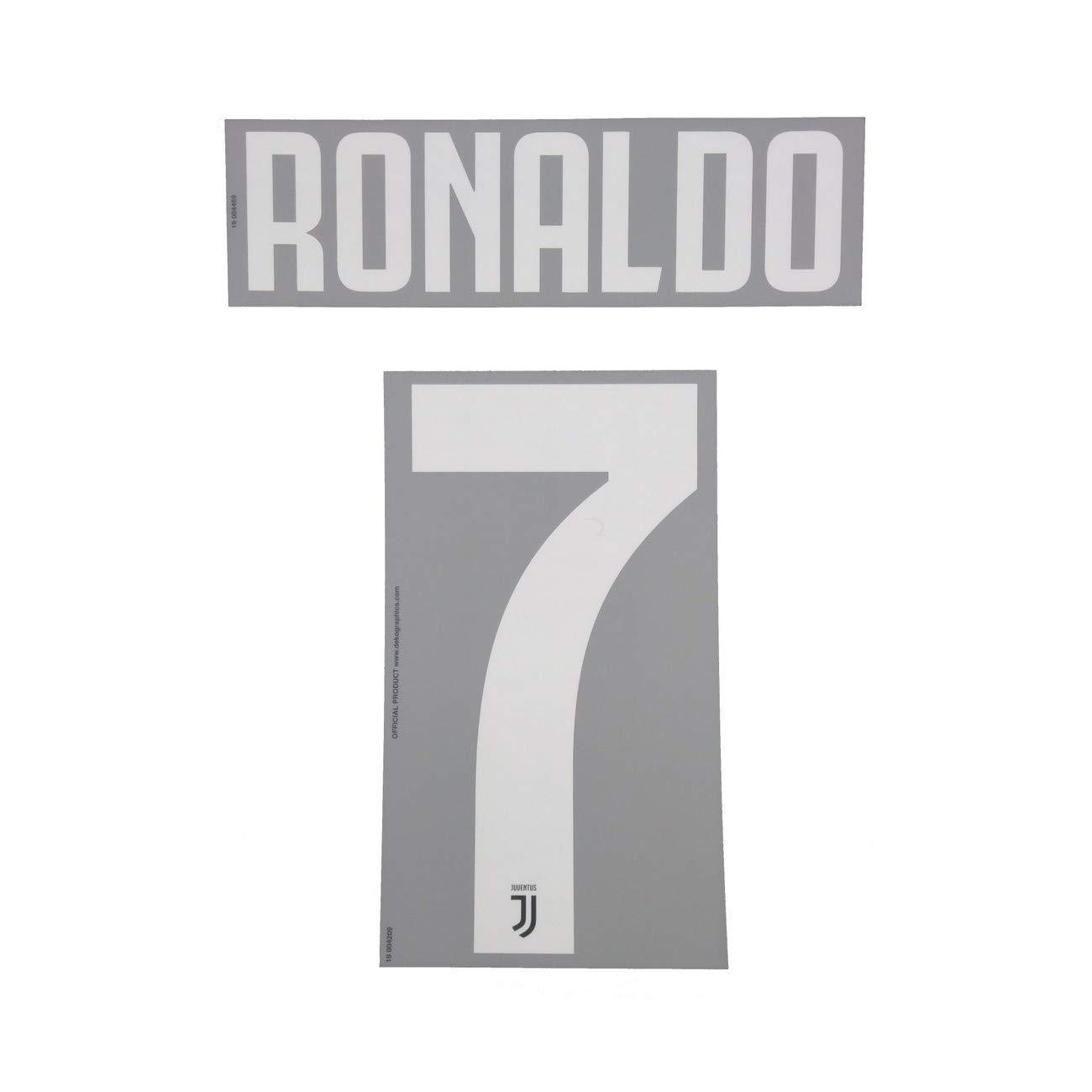 DEKOGRAPHICS Juventus 7 Ronaldo Nome e Numero Maglia Bambino Home 2019//20