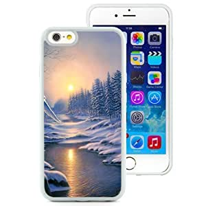 Beautiful Unique Designed iPhone 6 4.7 Inch TPU Phone Case With Winter Landscape Painting Scenery_White Phone Case