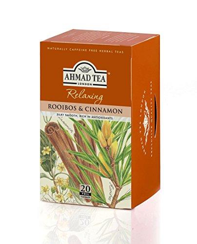 Ahmad Tea Rooibos & Cinnamon Infusion, 20-Count Tea Bags (Pack of 6)