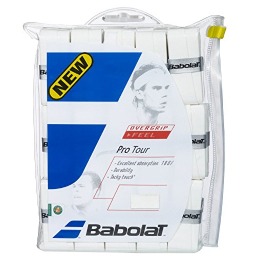 Babolat Pro Tour Tennis Overgrip - Choice of 12, 30, 50 Pack (12 Pack) - Excellent Comfort and Adsorbtion