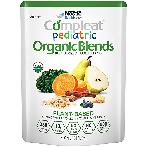 (Compleat Pediatric Organic Blends Plant Based, 10.1 fl oz Pouch, 24 Count)