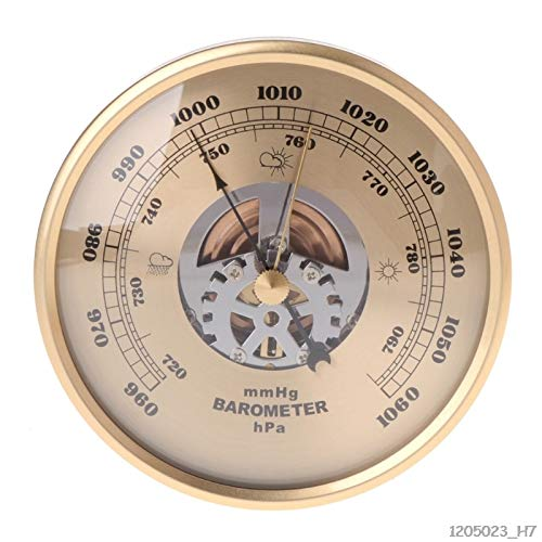 Ants-Store - 108mm Wall Mounted Barometer Perspective Round Dial Air Weather Station mmHg/hPa
