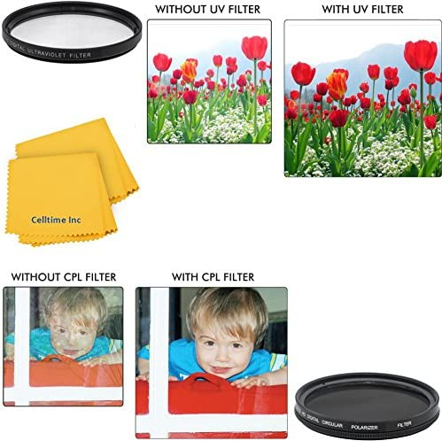 77mm Circular Polarizer Multi-Coated Filter and UV Protective Multi-Coated All-Purpose Filter for Canon Super Wide Angle EF 17-40mm f//4L USM Canon Telephoto EF 100-400mm f//4.5-5.6L IS USM Canon Super Wide Angle EF-S 10-22mm f//3.5-4.5 USM Canon Telephoto