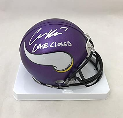 low priced e0de4 bf953 Amazon.com: Case Keenum Minnesota Vikings Autographed/Signed ...