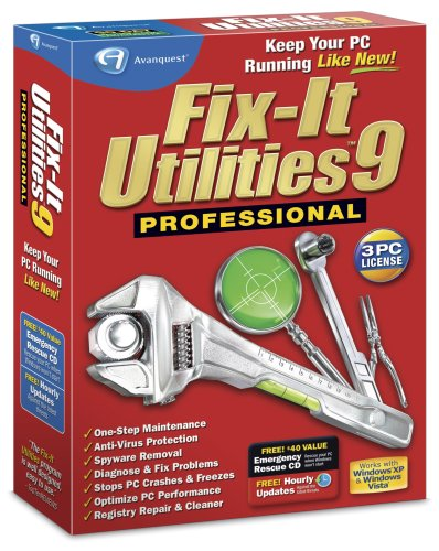 Fix-It Utilities 9 Professional (Registry Cleaning Software)