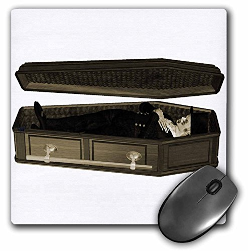 3dRose Blonde Designs Happy and Haunted Halloween - Halloween Casket and Body - MousePad (mp_131045_1)]()