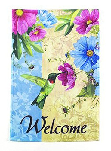Welcome Garden Flag With Nectar Sipping Hummingbird - By Ganz (No (Sipping Nectar)