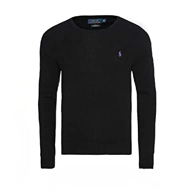 Ralph Lauren - Jersey cuello redondo SLIM FIT (Polo Black, M)