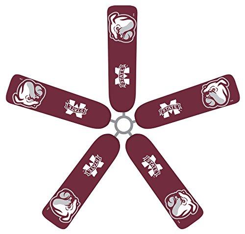 Fan Blade Designs Mississippi State Bulldogs Ceiling Fan Blade Covers by Fan Blade Designs