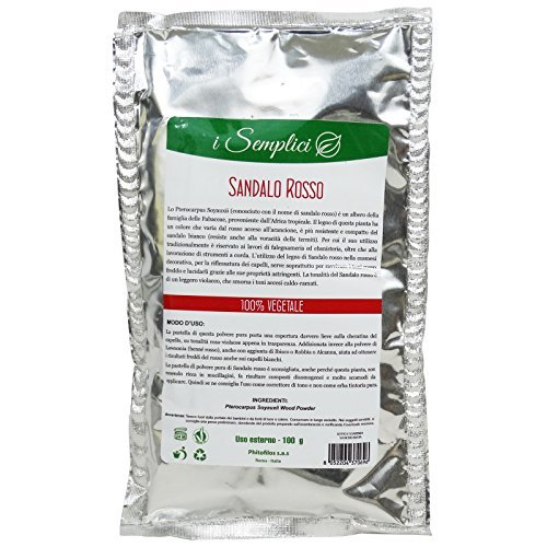 - PHITOFILOS - Red Sandalwood Powder - 100% Organic Hair Treatment - for Intense Red Shades - 50 gr