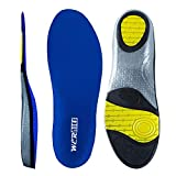 wernies Running Shoes Inserts for Men Women, Athletic Neutral Arch Comfort Insole Size M Blue ...