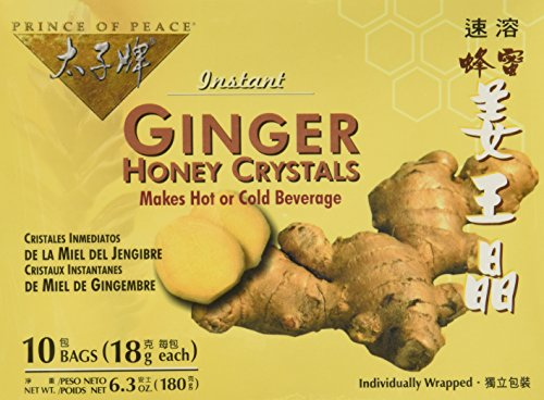 Prince of Peace Instant Tea, Ginger Honey Crystals, 10-Count (Pack of 4)
