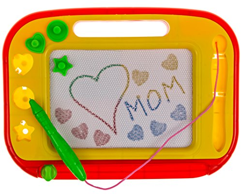 magnetic-drawing-board-red-yellow-erasable-magna-doodle-pad-pro-for-kids-toddlers-writing-scribble-s