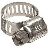 "Precision Marca M4S Micro Seal, Abrazadera de manguera de engranaje de tornillo sin fin, totalmente de acero inoxidable, 7/32 ""- 5/8"" (paquete de 10)"