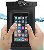 Universal Waterproof Pouch Case with Lanyard Strap for iPhone X, 8/7/7 Plus/6S/6/6S Plus, Samsung Galaxy S9/S9 Plus/S8/S8 Plus/Note 8 6 5 4, Google Pixel 2 HTC