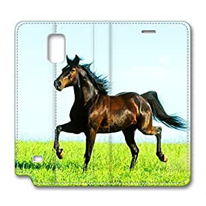 Steed Design Brand New Leather Case for Samsung Note 4 Gallant Horse wangjiang maoyi