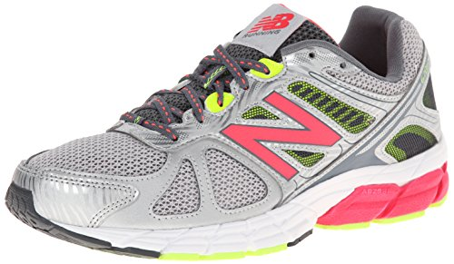 New Balance Womens W670V1 Neutral Running Shoe, Silver/Pink, 5 B US