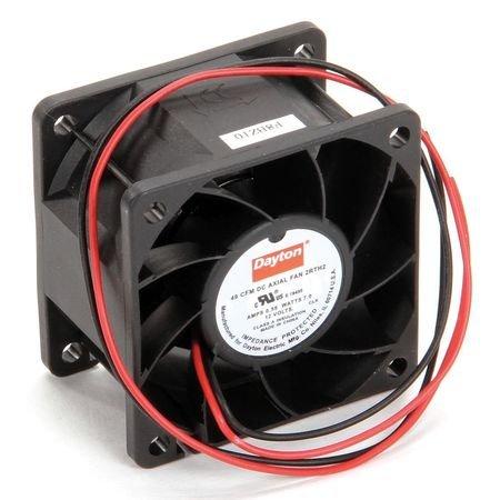 Dayton 2RTH2 Axial Fan, 2 3/8 In Sq, 49.2 CFM, 12 V DC