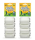 Flush Puppies Doodie Bags, Flushable & Certified Compostable, 16 Refill Rolls (160 Bags)