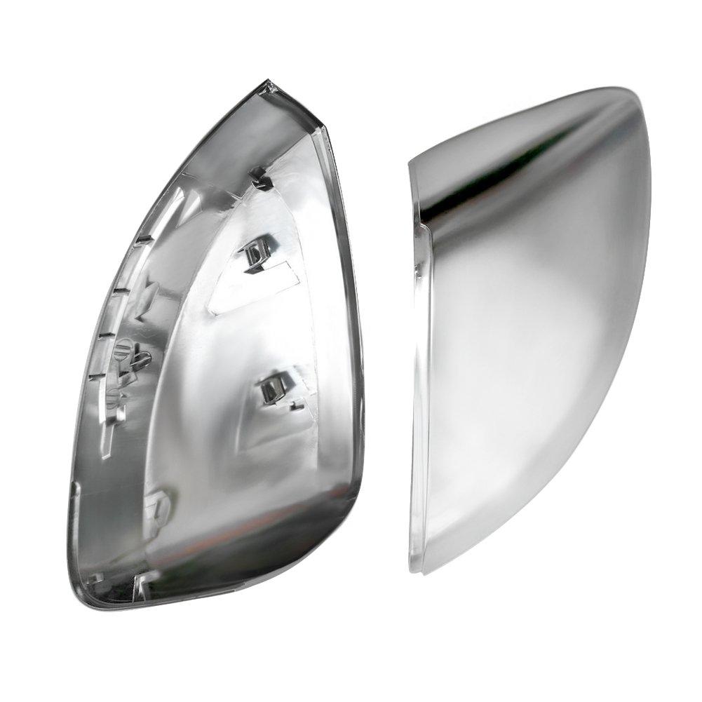 couvercle de protection mirror cache-r/étroviseur chrom/é mat Qiilu coques de miroir r/étroviseur bo/îtier