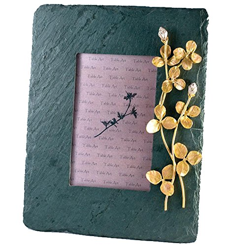 ''Clover'' 4x6 Slate Frame by Michael Michaud for Silver Seasons Table Art by Michael Michaud