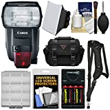 Canon Speedlite 600EX II-RT Flash with Case + Batteries & Charger + Soft Box + Sling Strap + Kit fro EOS Digital SLR Cameras