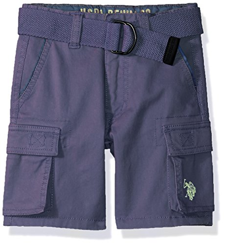 Cotton Twill Pigment (U.S. Polo Assn. Little Boys' Short, Stretch Cotton Twill Cargo Pigment Blue, 5)