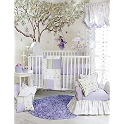 Glenna Jean Penelope Girl's 3 Piece Quilts Set, Lavender/Mint/White